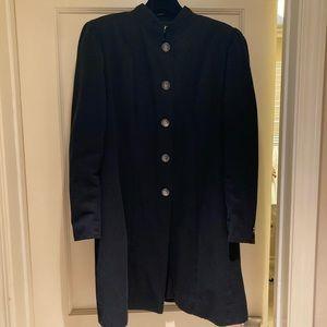 Authentic Vintage CHANEL black skirt suit, size 8